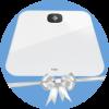 Poklon osobna vaga Fitbit FB203WT Aria Air White