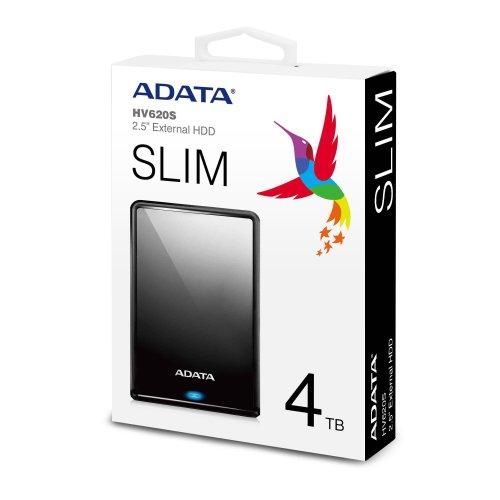 Externi HDD Adata Classic HV620S Slim 4TB Black
