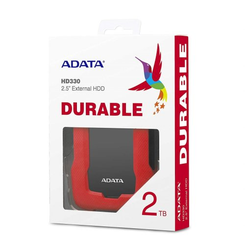 Externi HDD Adata HD330 2TB Durable Crno/Crveni