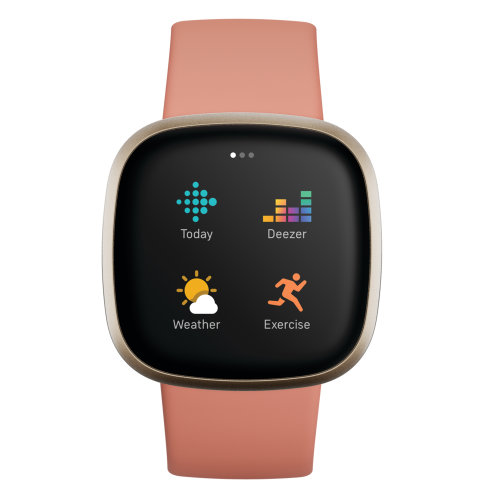 Sat Fitbit Versa 3 FB511GLPK Pink Clay/Soft Gold Aluminum