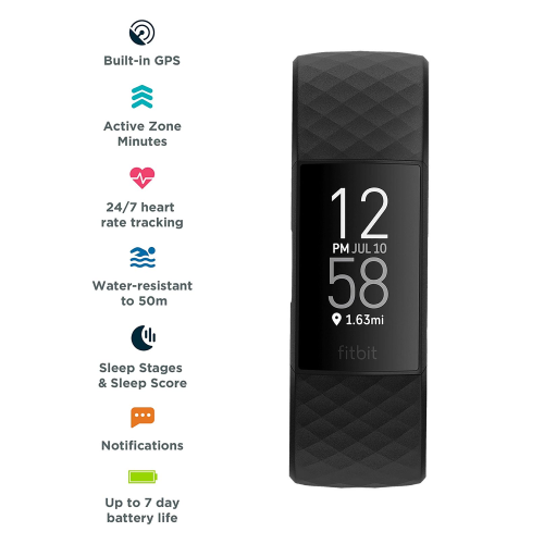 Tracker Fitbit Charge 4 FB417BKBK-EU bundle