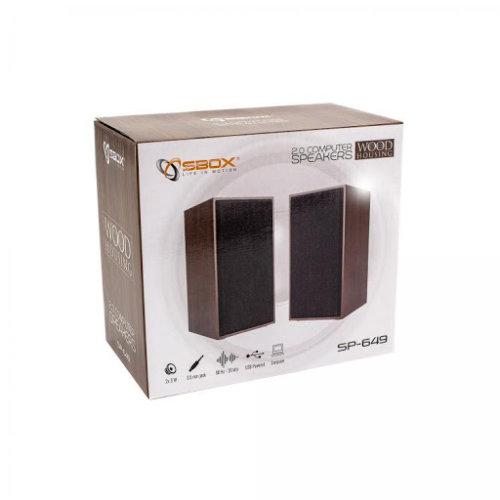 Zvučnici SBOX SP-649 Drveni